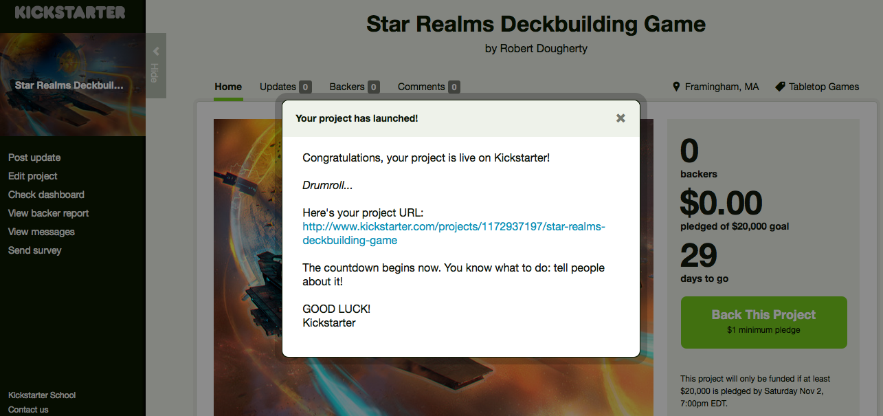 Star Realms Kickstarter is Launched!