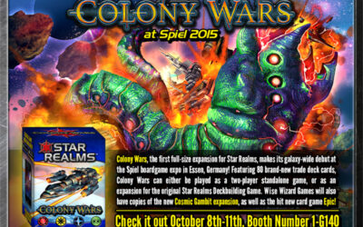 Star Realms Colony Wars makes its galactic debut at Essen Spiel next week!